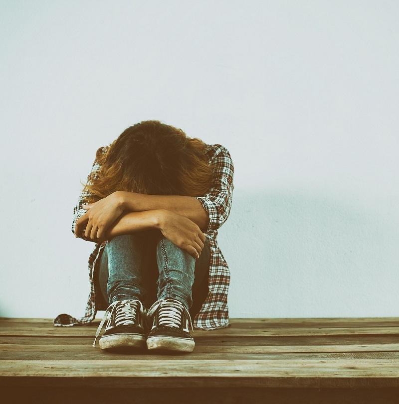 یک زن افسرده