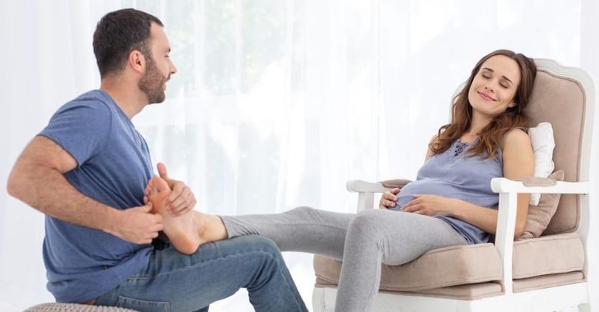 ماساژ، یکی از راه های کاهش ورم بارداری
